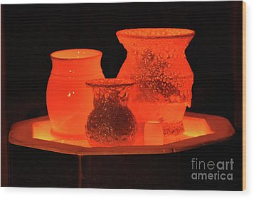 Wood Print featuring the photograph Hot Pots by Skip Willits