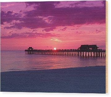 Hot Purple Wood Print
