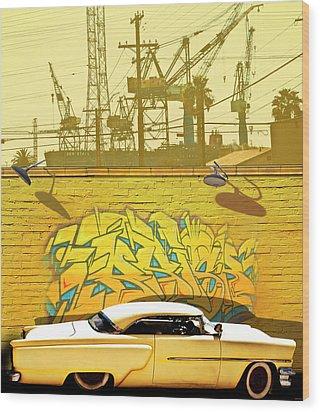 Hot Rod Graffitti Wood Print by Larry Butterworth