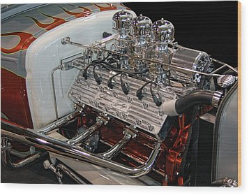 Hot Rod Lincoln Wood Print by Bill Dutting