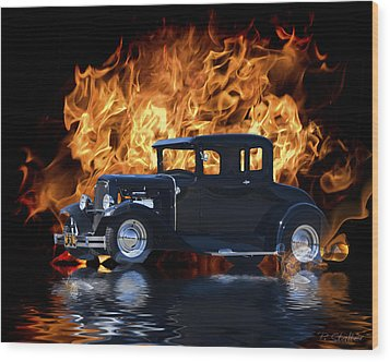 Hot Rod Wood Print by Patricia Stalter