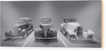 Hot Rod Power Black And White Poster Wood Print by Dapixara Art