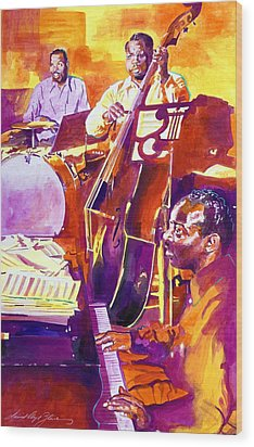Hot Sessions - Count Basie Wood Print by David Lloyd Glover