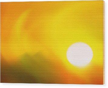 Hot Summer Sun 2 Wood Print by Steve Ohlsen