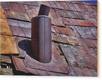 Hot Tin Roof Wood Print by Kelley King