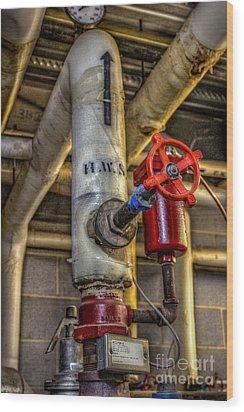 Hot Water Supply Wood Print