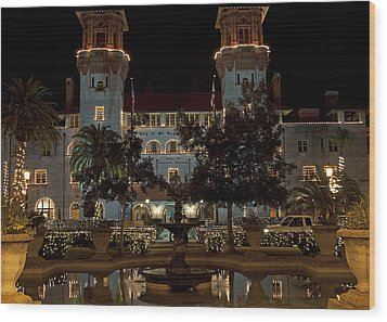Hotel Alcazar Wood Print by Kenneth Albin