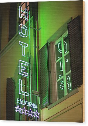 Wood Print featuring the photograph Hotel California - Rome Italy Photography by Melanie Alexandra Price