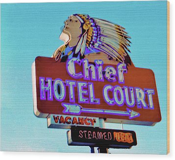 Wood Print featuring the photograph Hotel Chief Court by Matthew Bamberg