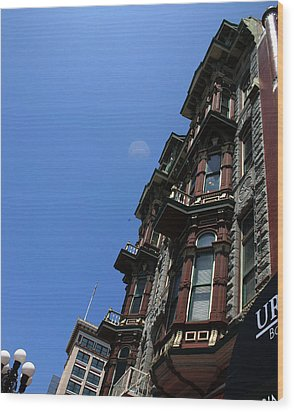 Hotel Downtown San Diego Wood Print by Brenda Myers