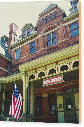 Hotel Florence Pullman National Monument Wood Print by Kyle Hanson