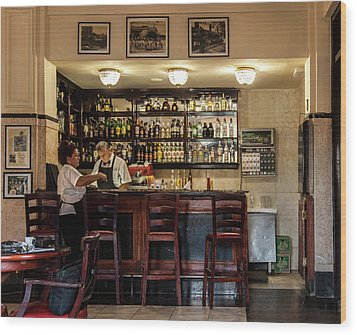 Wood Print featuring the photograph Hotel Presidente Bar Havana Cuba by Charles Harden