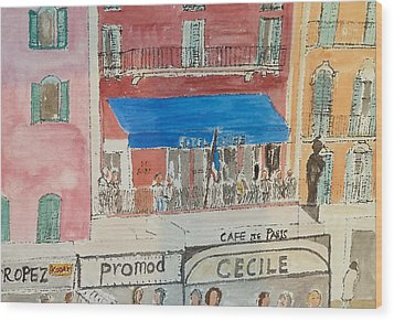 Hotel Sube St Tropez 2012 Wood Print by Bill White