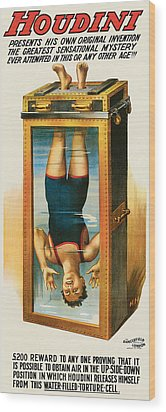 Houdini Water Filled Torture Cell Wood Print by Unknown