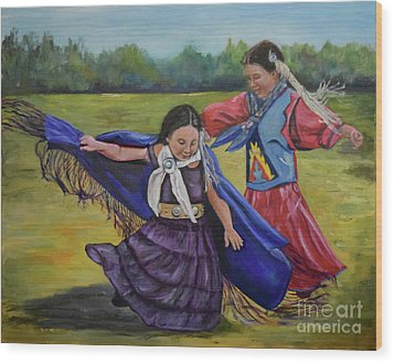 Houma Indian Dance Wood Print