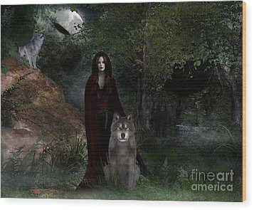 Hour Of The Wolf Wood Print