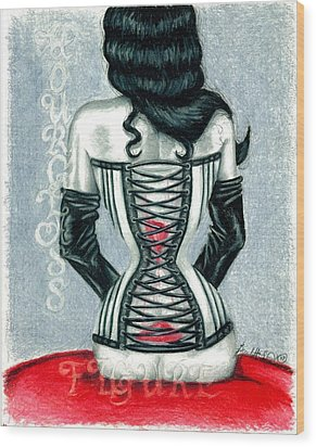 Hourglass Figure Wood Print by Scarlett Royal