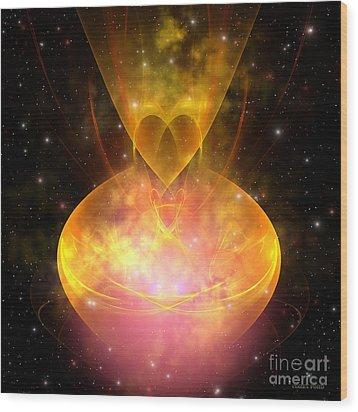 Hourglass Nebula Wood Print by Corey Ford