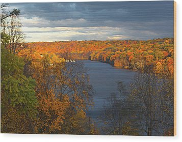 Wood Print featuring the photograph Housatonic In Autumn by Karol Livote