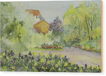 House And Garden Wood Print