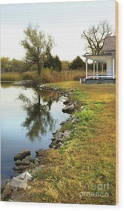 Wood Print featuring the photograph House By The Edge Of The Lake by Jill Battaglia
