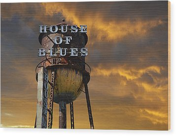 Wood Print featuring the photograph House Of Blues  by Laura Fasulo