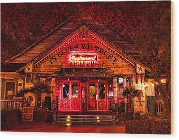 House Of Blues Wood Print by Paul Bartoszek