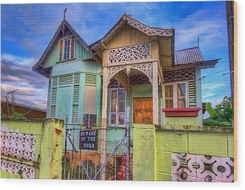 House Of Colors Wood Print by Nadia Sanowar