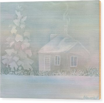 House Of Snow And Fog Wood Print by Anne Havard