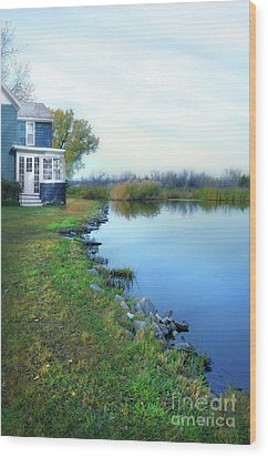 Wood Print featuring the photograph House On A Lake by Jill Battaglia