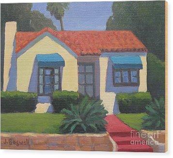 House On Cota Wood Print by Jennifer Boswell