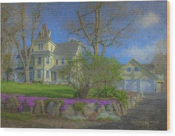House On Elm St., Easton, Ma Wood Print