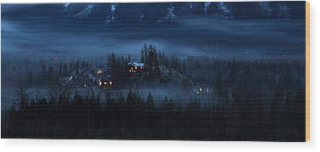 House On Haunted Hill Pemberton Wood Print by Pierre Leclerc Photography