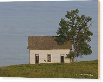 Wood Print featuring the photograph House On The Hill by Don Durfee