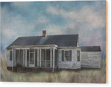 Wood Print featuring the photograph House On The Hill by Kim Hojnacki