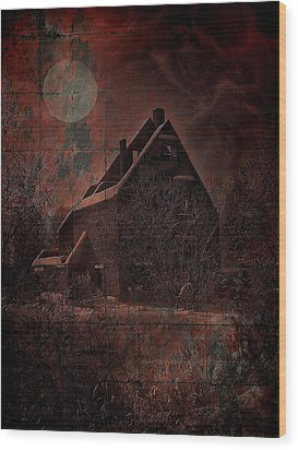 House With A Story To Tell Wood Print by Mimulux patricia no No