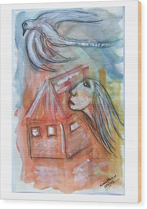 House Without A Door - Haus Ohne Tuer Wood Print by Mimulux patricia no No