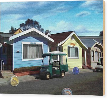 Houses In A Row Wood Print by Snake Jagger