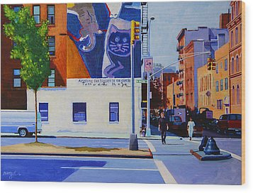 Houston Street Wood Print by John Tartaglione