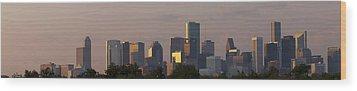 Houston Sunset Wood Print by Joshua House