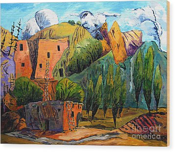 Hovenweep The Penthouse  Wood Print by Charlie Spear