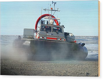 Hover Craft Wood Print by Anthony Jones