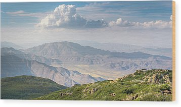 Wood Print featuring the photograph Hovering Over Granite Mountain by Alexander Kunz
