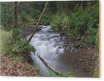 Wood Print featuring the photograph How The River Flows by Jeff Swan