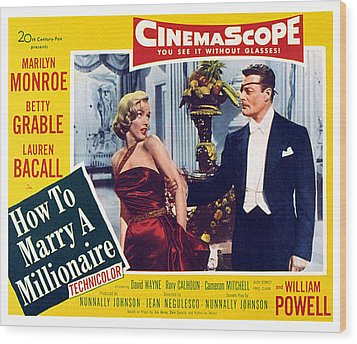 How To Marry A Millionaire, Marilyn Wood Print by Everett