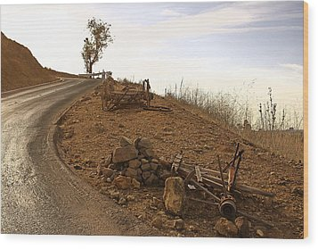 Wood Print featuring the photograph How West Was Conquered by Viktor Savchenko