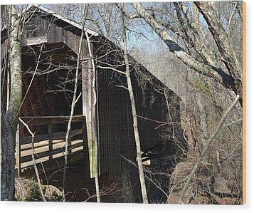 Howards Covered Bridge Wood Print by Eva Thomas
