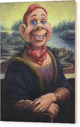Wood Print featuring the painting Howdy Doovinci by James W Johnson