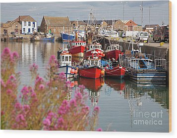 Howth Harbour Wood Print by Gabriela Insuratelu