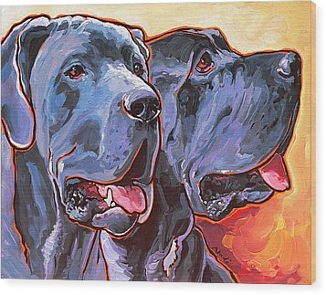 Howy And Iloy Wood Print by Nadi Spencer